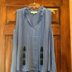 Never worn! Pleated blouse